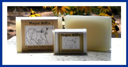 Major Bill's Beef Tallow Soap Maj